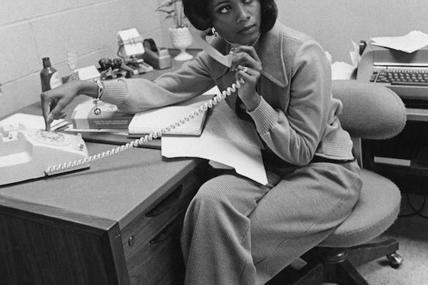 Business attire old image African-American woman